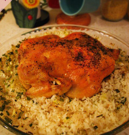Fırında Tavuklu Pilav