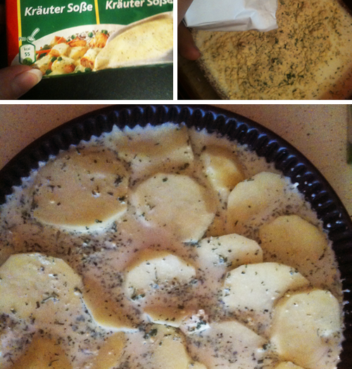 Knorr'un bizde olmayan sosları ve bir patates tarifi..
