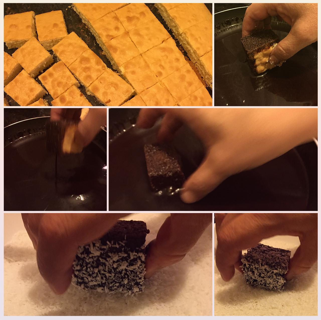 lokum kek yapım aşamaları