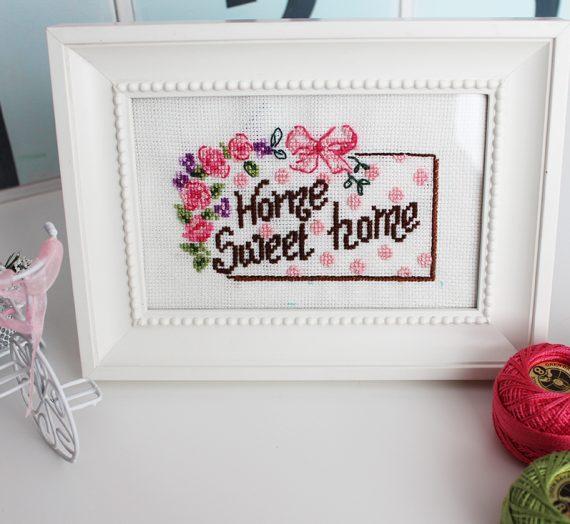 Home Sweet Home + Etamin Şablon