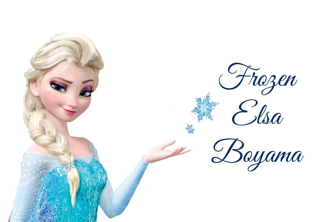 frozen elsa boyama