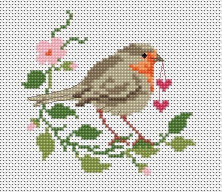 Kuşlu Etamin Şablon