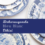 bleu blanc porselen